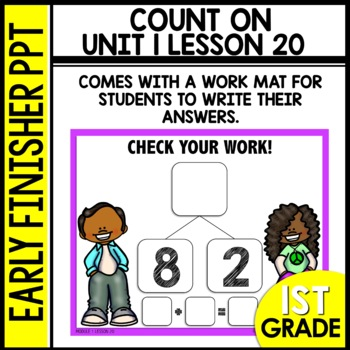 Early Finishers Activities | Counting On | Module 1 lesson 20