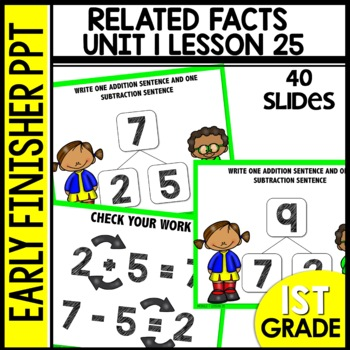 Early Finishers Activities | Module 1 lesson 25 | Number Bonds