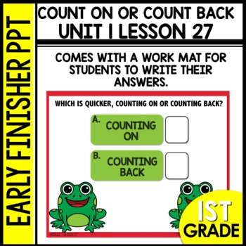 Counting on or Counting Back EARLY FINISHER POWERPOINT