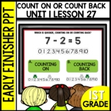 Early Finishers Activities | Counting on or Counting Back