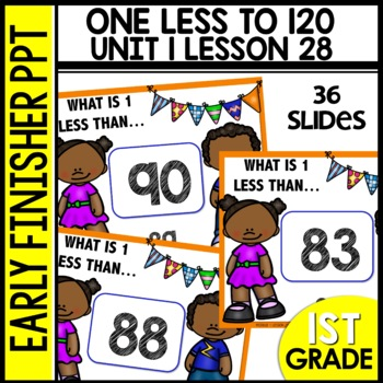 One Less [Numbers to 120] EARLY FINISHER POWERPOINT