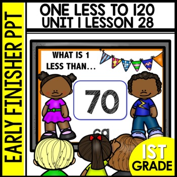 Early Finishers Activities | One Less [Numbers to 120] | Module 1 Lesson 28