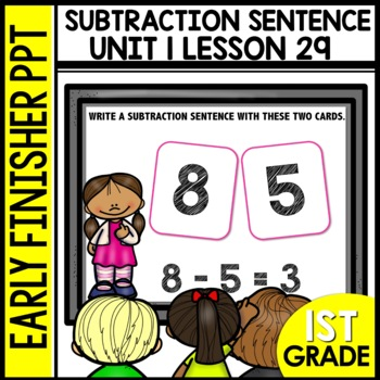 Subtraction Sentences EARLY FINISHER POWERPOINT