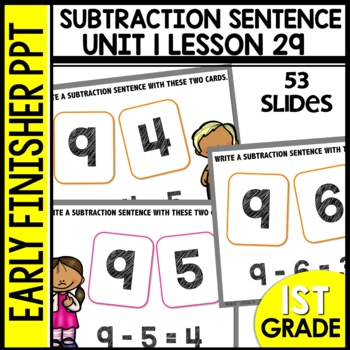 Early Finishers Activities | Subtraction Sentences | Module 1 Lesson 29