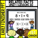 Early Finishers Activities |Related Facts | Module 1 Lesson 30