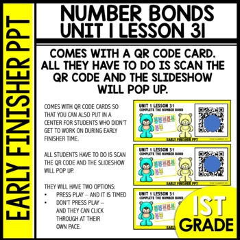 Number Bonds EARLY FINISHER POWERPOINT