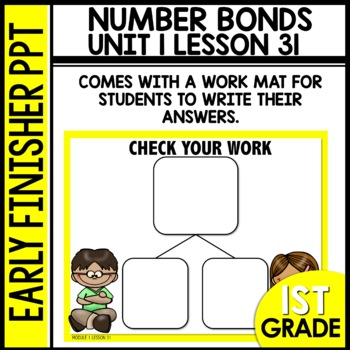 Early Finishers Activities | Number Bonds | Module 1 lesson 31