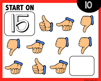 MATH DIGITAL TASK CARDS [counting up and down from a given number]