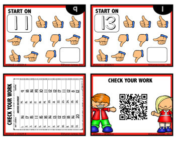 MATH TASK CARDS [counting up and down from a given number]