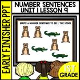 Early Finishers Activities   Number Sentence Practice   Module 1 lesson 9