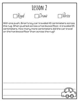 Second Grade Module 2 Application Problems Journal