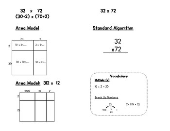 Module 2 Area Model and Standard Algorithm Support-ESL Resource