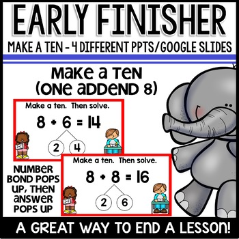 Three Addends | Make a Ten | Early Finisher PPTs