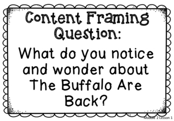 Module 2 Essential, Focusing, and Content Framing Questions Posters