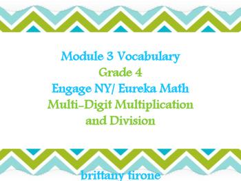 Module 3 Grade 4 Engage NY/Eureka Math Common Core Vocabul
