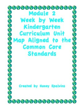 Module 2 Kindergarten Curriculum Map Aligned to the Common Core Standards