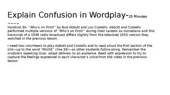 Wit and Wisdom Module 2 Lessons 1-4