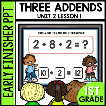 Three addends [Make a ten] EARLY FINISHER POWERPOINT