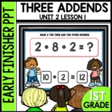 Early Finishers Activities | Three addends [Make a ten]