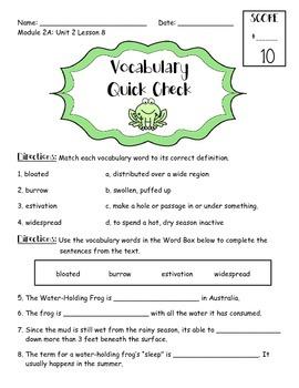 EngageNY 3rd Grade ELA Module 2A: Unit 2: Lesson 8 Vocabul