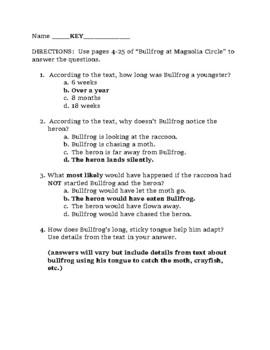 Module 2a Grade 3 Bullfrog at Magnolia Circle quiz