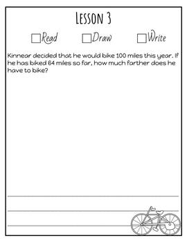 Second Grade Module 3 Application Problem Journal