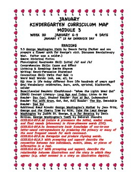 Module 3 Kindergarten Curriculum Map Aligned to the Common Core Standards