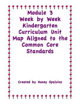 Module 3 Kindergarten Curriculum Map Aligned to the Common