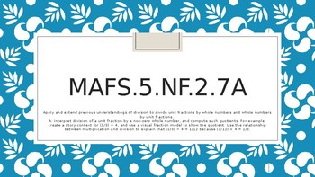 Module 3 - MAFS.5.NF.2.7a - PowerPoint with daily worksheet - 3 Days