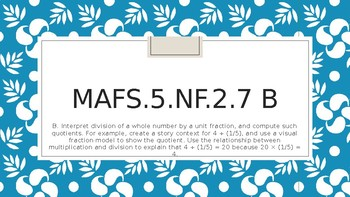 Module 3 - MAFS.5.NF.2.7b - PowerPoint with worksheet and learning targets