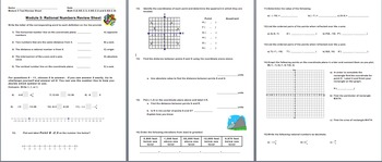 Module 3 Test and Review (Rational Numbers) Grade 6