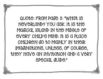 Module 3A Lesson 1 Quotes Peter Pan