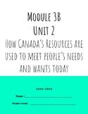 Module 3B, Unit 2: Canada's Natural Resources.