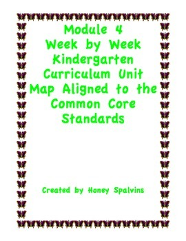 Module 4 Kindergarten Curriculum Map Aligned to the Common Core Standards