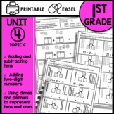 Math Worksheets 1st Grade [add and subtract tens & add tens to a 2 digit number]