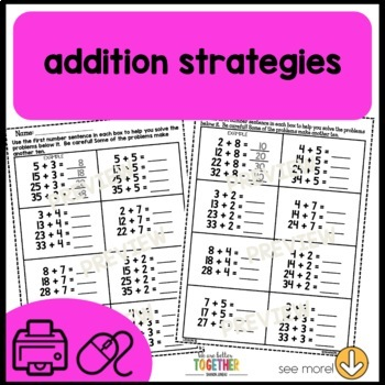 PRINT AND GO Math Sheets (tens and ones)