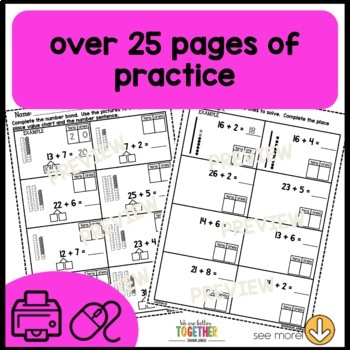 Math Worksheets 1st Grade tens and ones