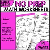Math Worksheets 1st Grade [TEN MORE TEN LESS]