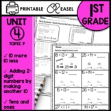 Math Worksheets 1st Grade [TEN MORE TEN LESS]
