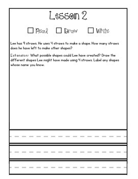 First Grade Module 5 Application Journal