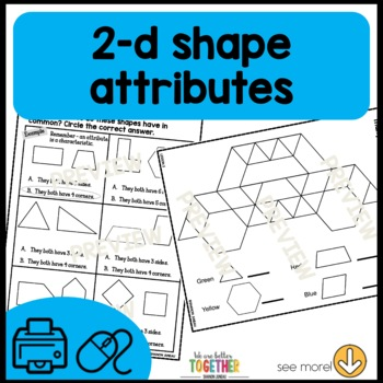 Math Worksheets 1st Grade [shapes, 1/2, 1/4, time to the hour and half hour]
