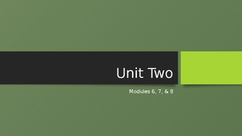 Module 6,7, & 8 PowerPoint