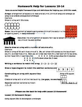 Module 6 Homework Helper Lessons 10-14