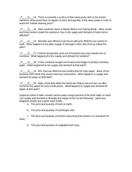 Module 7 AP Economics Changes in Equilibrium with Answer Key