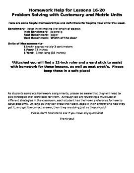 Module 7 Homework Helper Lessons 16-20