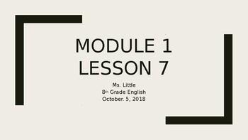 Module  Lesson 7 Continued