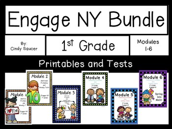 Modules 1-6, Additional Printables and Tests, Engage NY, 1st grade