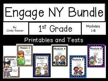 Bundle, 1st Grade, Engage NY, Printables and Tests