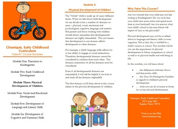 Módulo 3: Desarrollo físico de los niños