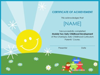 Módulo 2: Desarrollo infantil temprano